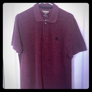 Express modern-fit pique polo